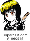 Royalty-Free (RF) Manga Clipart Illustration #1060945