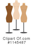 Royalty-Free (RF) Mannequin Clipart Illustration #1145487