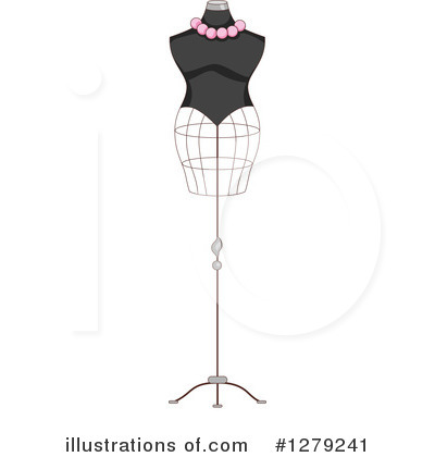 Royalty-Free (RF) Mannequin Clipart Illustration by BNP Design Studio - Stock Sample #1279241