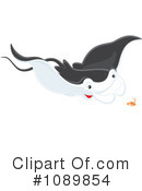 Royalty-Free (RF) Manta Ray Clipart Illustration #1089854