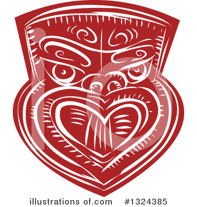 Tribal Mask Clipart #1324385 by patrimonio