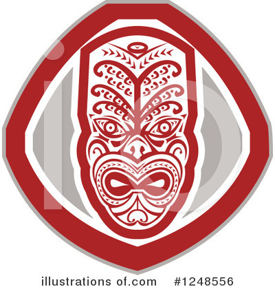 Tribal Mask Clipart #1248556 by patrimonio