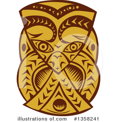 Tribal Mask Clipart #1358241 by patrimonio