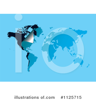 Royalty-Free (RF) Map Clipart Illustration by michaeltravers - Stock Sample #1125715