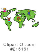 Royalty-Free (RF) Map Clipart Illustration #216161