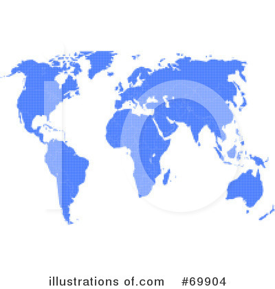 Royalty-Free (RF) Map Clipart Illustration by MacX - Stock Sample #69904