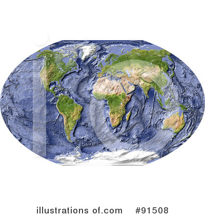 Royalty-Free (RF) Map Clipart Illustration by Michael Schmeling - Stock Sample #91508