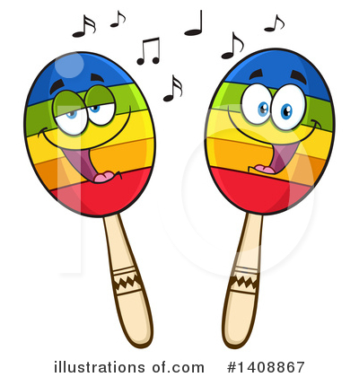 Maracas Clipart #1408867 by Hit Toon