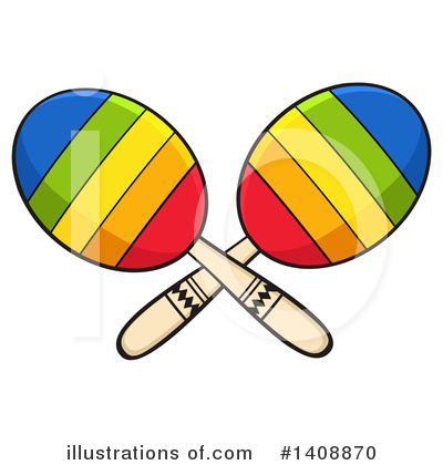 Maracas Clipart #1408870 by Hit Toon