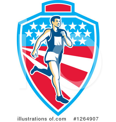 Royalty-Free (RF) Marathon Runner Clipart Illustration by patrimonio - Stock Sample #1264907