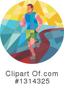 Royalty-Free (RF) Marathon Runner Clipart Illustration #1314325