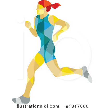 Royalty-Free (RF) Marathon Runner Clipart Illustration by patrimonio - Stock Sample #1317060