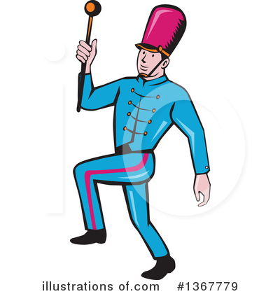 Marching Band Clipart #1367779 by patrimonio