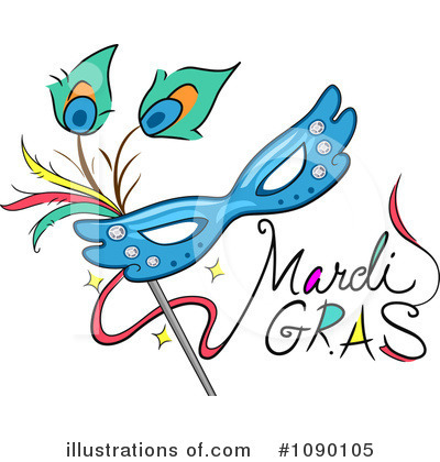 Mardi Gras Clipart #1090105 by BNP Design Studio
