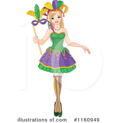 Mardi Gras Clipart #1160949 by Pushkin
