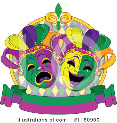 Mardi Gras Clipart #1160950 by Pushkin