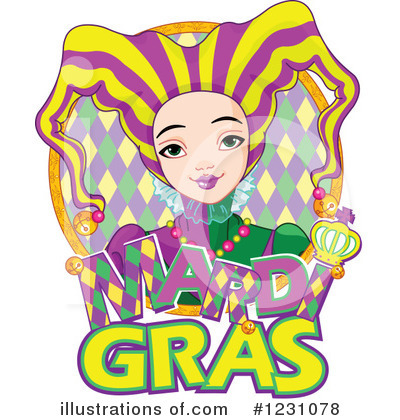 Mardi Gras Clipart #1231078 by Pushkin