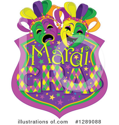 Mardi Gras Clipart #1289088 by Pushkin