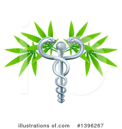 Caduceus Clipart #1396267 by AtStockIllustration
