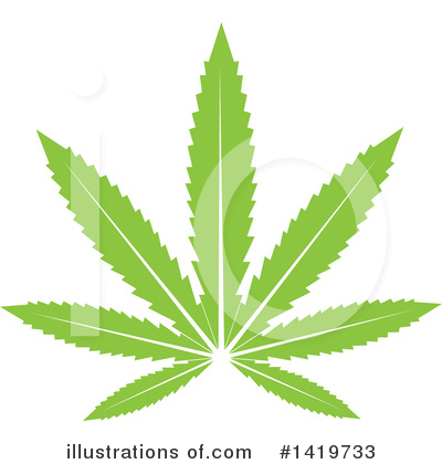 Royalty-Free (RF) Marijuana Clipart Illustration by cidepix - Stock Sample #1419733