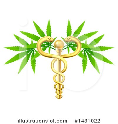 Caduceus Clipart #1431022 by AtStockIllustration
