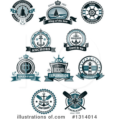 Sailboat Clipart #1314014 by Vector Tradition SM