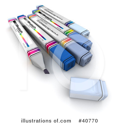 Office Supplies Clipart #40770 by Frank Boston