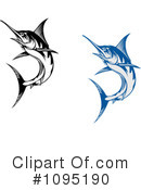 Royalty-Free (RF) Marlin Clipart Illustration #1095190