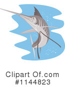 Royalty-Free (RF) Marlin Clipart Illustration #1144823