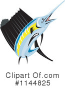 Royalty-Free (RF) Marlin Clipart Illustration #1144825
