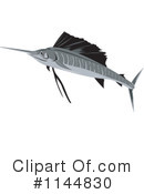 Royalty-Free (RF) Marlin Clipart Illustration #1144830