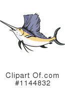 Royalty-Free (RF) Marlin Clipart Illustration #1144832