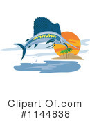 Royalty-Free (RF) Marlin Clipart Illustration #1144838