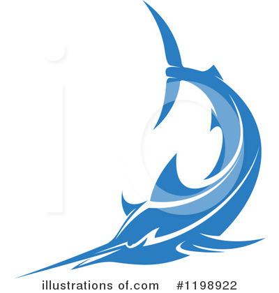 Marlin Clipart #1198922 by Vector Tradition SM