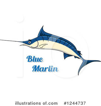 Marlin Clipart #1244737 by Vector Tradition SM