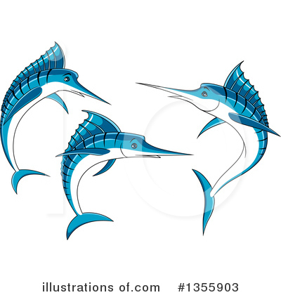 Marlin Clipart #1355903 by Vector Tradition SM