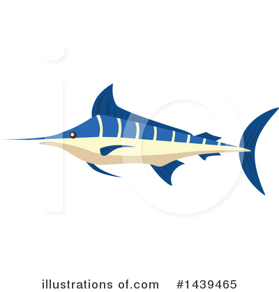 Marlin Clipart #1439465 by Vector Tradition SM