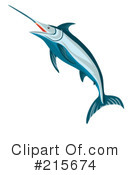 Royalty-Free (RF) Marlin Clipart Illustration #215674