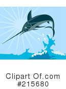 Royalty-Free (RF) Marlin Clipart Illustration #215680