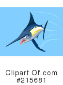 Royalty-Free (RF) Marlin Clipart Illustration #215681