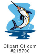 Royalty-Free (RF) Marlin Clipart Illustration #215700