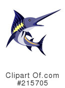 Royalty-Free (RF) Marlin Clipart Illustration #215705