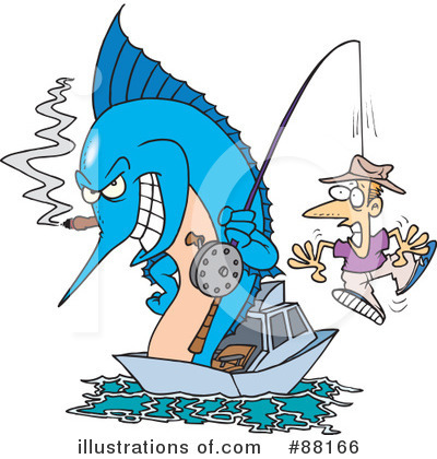 Royalty-Free (RF) Marlin Clipart Illustration by Ron Leishman - Stock Sample #88166