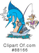 Royalty-Free (RF) Marlin Clipart Illustration #88166