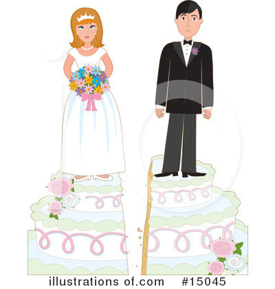 Royalty-Free (RF) Marriage Clipart Illustration by Maria Bell - Stock Sample #15045