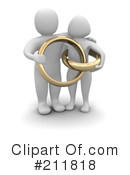 Royalty-Free (RF) Marriage Clipart Illustration #211818