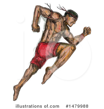 Royalty-Free (RF) Martial Arts Clipart Illustration by patrimonio - Stock Sample #1479988