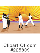 Royalty-Free (RF) Martial Arts Clipart Illustration #225809