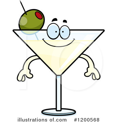 Martini Clipart #1200568 by Cory Thoman