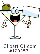 Royalty-Free (RF) Martini Clipart Illustration #1200571